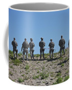 U.s. Soldiers Looking Over The Side Coffee Mug