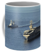 Uss Abraham Lincoln And French Navy Coffee Mug