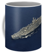 Uss Abraham Lincoln Transits The Indian Coffee Mug by Stocktrek Images