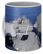 Uss Halsey Fires Its Mk-45 Coffee Mug