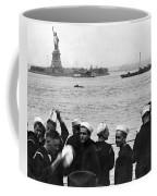 Uss Pennsylvania Sailors Cheer Coffee Mug