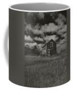 Utah Barn In Black And White Coffee Mug