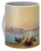 Valetta Harbour At Sunset Coffee Mug