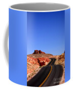 Valley Of Fire Road And Sky Nevada Coffee Mug