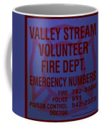Valley Stream Fire Department In Blue Coffee Mug by Rob Hans