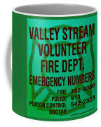 Valley Stream Fire Department In Irish Green Coffee Mug