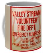 Valley Stream Fire Department Coffee Mug