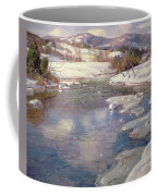 Valley Stream In Winter Coffee Mug