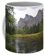 Valley View Of Bridalveil Falls Coffee Mug