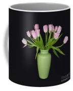 Vase Of Pink Tulips Coffee Mug