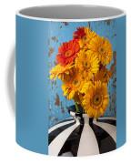 Vase With Gerbera Daisies  Coffee Mug