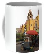Vending Cart Outside Of The Basilica De Coffee Mug by Krista Rossow