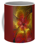 Vibrant Red And Gold Coffee Mug