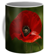 Vibrant Red Oriental Poppy Wildflower Coffee Mug