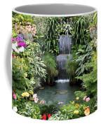 Victorian Garden Waterfall - Digital Art Coffee Mug