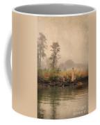 Victorian Lady By Row Boat Coffee Mug