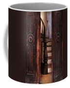Victorian Lady Descending Stairs Coffee Mug