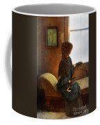 Victorian Lady Gazing Out The Window Coffee Mug