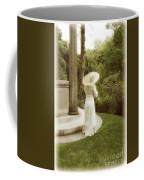 Victorian Woman In Garden With Parasol Coffee Mug