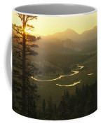 View At Dawn Of The Tuolumne River Coffee Mug by Phil Schermeister