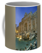 View At Dusk Of The Trevi Fountain Coffee Mug