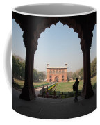View From Inside The Red Fort With Tourist Coffee Mug
