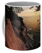 View Looking Down Cliffs At Sunset Coffee Mug