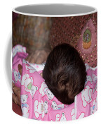 View Of A Mother Holding Her Baby With Only The Hair On The Head Visible Coffee Mug