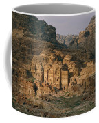 View Of A Number Of Nabataean Tombs Coffee Mug by Annie Griffiths