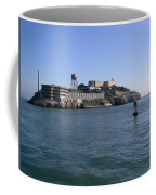 View Of Alcatraz From A Boat That Is Leaving The Island Coffee Mug
