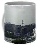 View Of Cable Car And Skyline From The Tiger Sky Tower In Sentos Coffee Mug