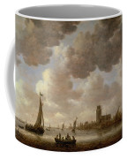 View Of Dordrecht Downstream From The Grote Kerk Coffee Mug