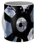 View Of Earth Through The Cupola Coffee Mug