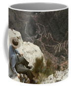 View Of Hiking Trails From High Above Coffee Mug