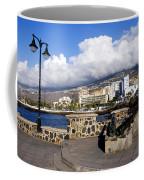 View Of Puerto De La Cruz From Plaza De Europa Coffee Mug