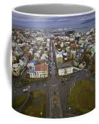 View Of Reykjavik Coffee Mug