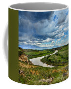 View Of River With Storm Clouds Coffee Mug