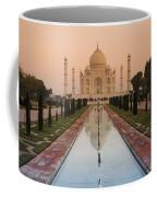 View Of Taj Mahal Reflecting In Pond Coffee Mug