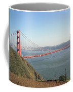 View Of The Golden Gate Bridge And San Francisco From A Distance Coffee Mug