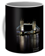 View Of The River Thames And Tower Bridge At Night Coffee Mug