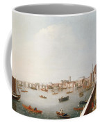 View Of The River Thames From The Adelphi Terrace  Coffee Mug