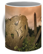 View Of The Round Tower And Gravestones Coffee Mug