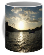 View Of The Thames At Sunset With London Eye In The Background Coffee Mug