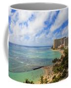 View Of Waikiki And Beach Coffee Mug