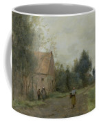 Village Street In The Morning Coffee Mug by Jean Baptiste Camille Corot