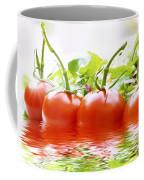 Vine Tomatoes And Salad With Water Coffee Mug