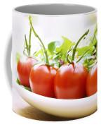 Vine Tomatoes On A Salad Plate Coffee Mug