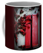 Vines On Red Shutters Coffee Mug