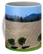 Vineyard On A Hill With Trees Coffee Mug
