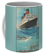 Vintage French Line Travel Poster Coffee Mug